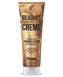 Pro Tan Beaches & Creme Ultra Rich Dark tanning Butter With Carrot Oil 250ml